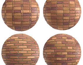 3D Materials 9- Brick Tiles PBR in 4 Patterns