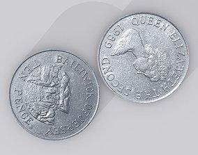 British Ten Pence - 10p - Coins 1975-1989 Jersey 3D model