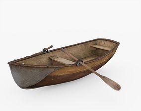 3D asset VR / AR ready Row Boat