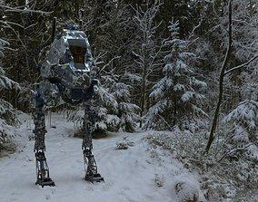 Sat Bot 27 - Sci Fi Mech 3D model