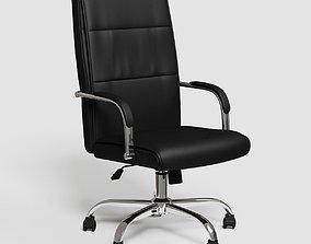 3D asset Black executive office chair