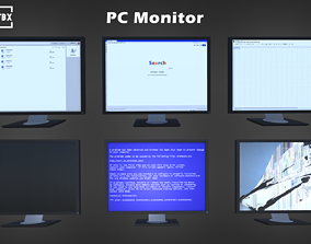 PC Monitor 3D asset