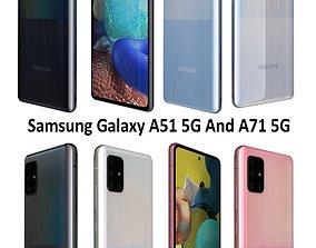 3D model Samsung Galaxy A51 5G And A71 5G