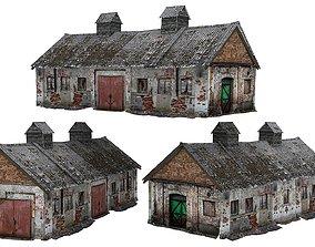 3D asset Old house Kolkhoz 01 02