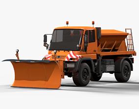 Snowplow Truck Unimog U500 2 3D asset