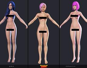 Girls - Basemesh 3D printable model