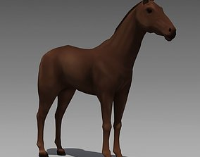 Animated Horse 3D asset