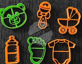 Baby Shower Pack - Cookie Cutters 3D printable model
