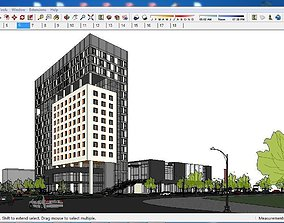 3D Sketchup office building G6