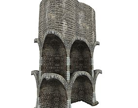 3D asset Gatehouse 01 Walls Pillar 01
