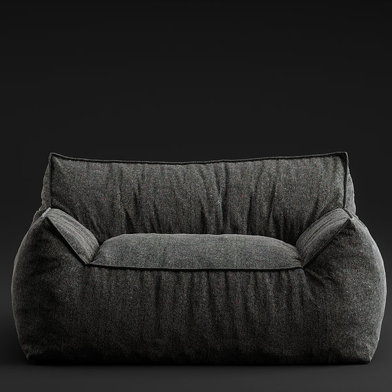 Several  self made sofas with self scanned fabric textures.