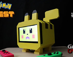 Pikachu Pokemon Quest Nintendo Switch Stand 3D Print