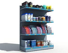 Supermarket Shelves Personal Hygiene 3D