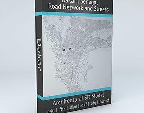 3D model Dakar Road Network and Streets