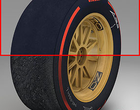 18 inches supersoft front tyre 3D asset