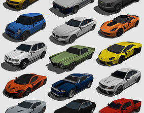 3D asset 15 Models Car Low-poly