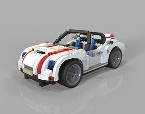 Lego car sport 3D asset