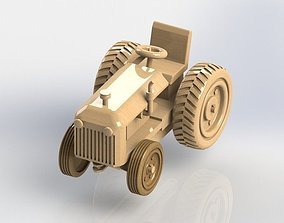 3D Wood Tractor