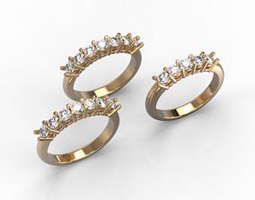 110316 R 2 sizes 010ct rings 3D print model