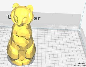 Bear statuette 3D printable model