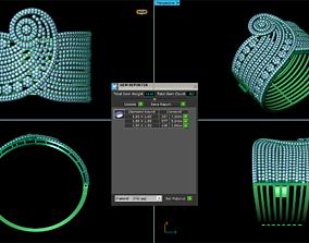 diamond 3D printable model bracelet