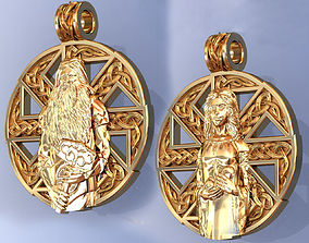 Slavic Amulet Pendant for Man and Woman Nordic 3D model