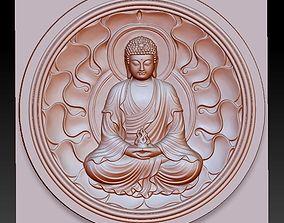 zen buddha 3d model of bas-relief