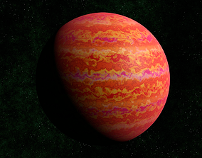 3D asset VR / AR ready Red gas giant 2