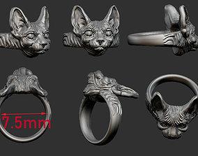 cat sphinx ring 3 FILES 3D printable model