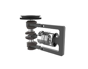 3D printable model Reciprocating Opposite Piston Engine