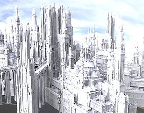High Palace variation with separate chambers towers 3D