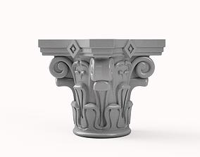 3D print model Corinthian Capitals high Detail