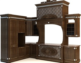 3D Kitchen Cabinets Counters