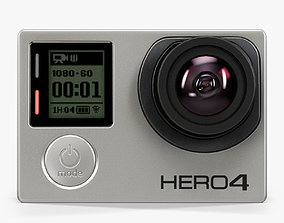 GoPro HERO4 Silver Edition action camera 3D asset