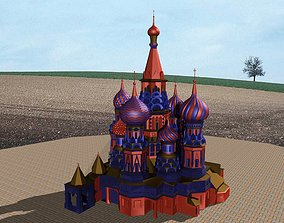 3D model Cathedral-Russian Architucture