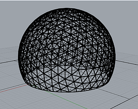 geodesic dome 3D rigged