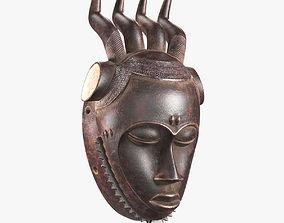 3D asset African Baule Wind Mask