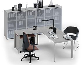 Office workspace LAS OXI v1 3D model