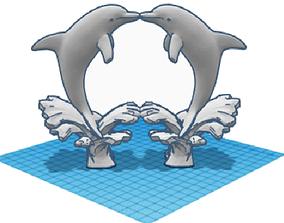 Love Dolphins 3D print model