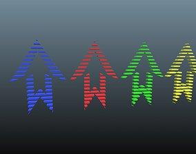 Low poly arrow 59 3D model