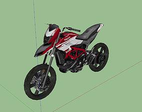 Ducati Hypermotard 939 SP 3D asset