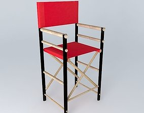ROBINSON RED BAR CHAIR houses the world 3D model