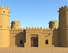 3D asset game-ready Arab Fort