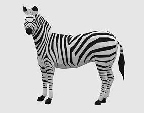 3D model Zebras