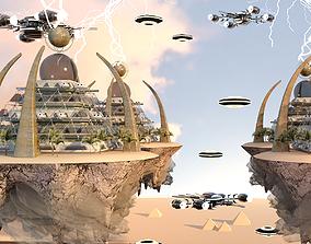 3D model Pyramid City 02