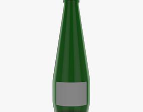 3D Green Glass Bottle