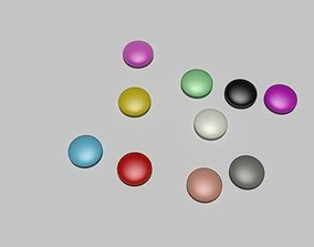 Candy for particle simulation 3D asset