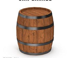 Wooden barrel wooden 3D asset realtime