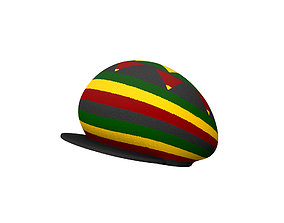 3D Reggae Cap