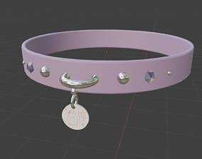 Fancy Jeweled Purple Collar 3D asset realtime